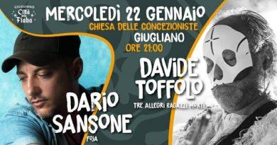 Dario Sansone (Foja) e Davide Toffolo (Tre allegri ragazzi morti) in concerto acustico a Giugliano (Na)