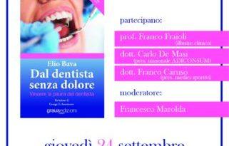 """Società Italiana di Odontoiatria Biologica e Naturale: Presentazione del libro """"Dal dentista senza dolore"""" di Elio Bava"""