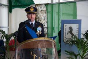 L'intervento del Comandante uscente, Colonnello Nicola Lucivero.