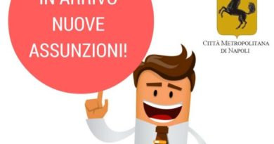 Citta' Metropolitana di Napoli : Avviate le procedure per l'assunzione di 60 nuovi dipendenti