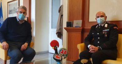 San Giorgio a Cremano. Si insedia il neo comandante della Stazione dei Carabinieri. Incontro tra il Sindaco Zinno e il Maresciallo Di Maio