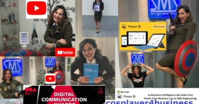 """SMS Engineering in Nomination ai Digital Communication Awards 2021 per la Campagna di Marketing""""cosplayer4business""""."""
