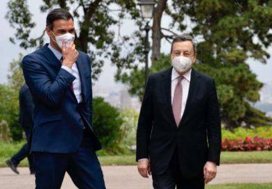 Incontro tra Mario Draghi ed il premier Pedro Sànchez. La politica estera ha preso tutta un'altra rotta.
