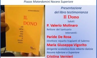 """Nocera Superiore: Presentazione del libro testimonianza """"Il Dono"""""""
