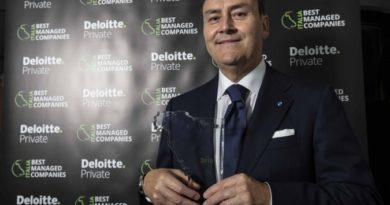 """Ambiente S.p.A. vince la quarta edizione del """"Best Managed Companies"""" Award di Deloitte Private"""
